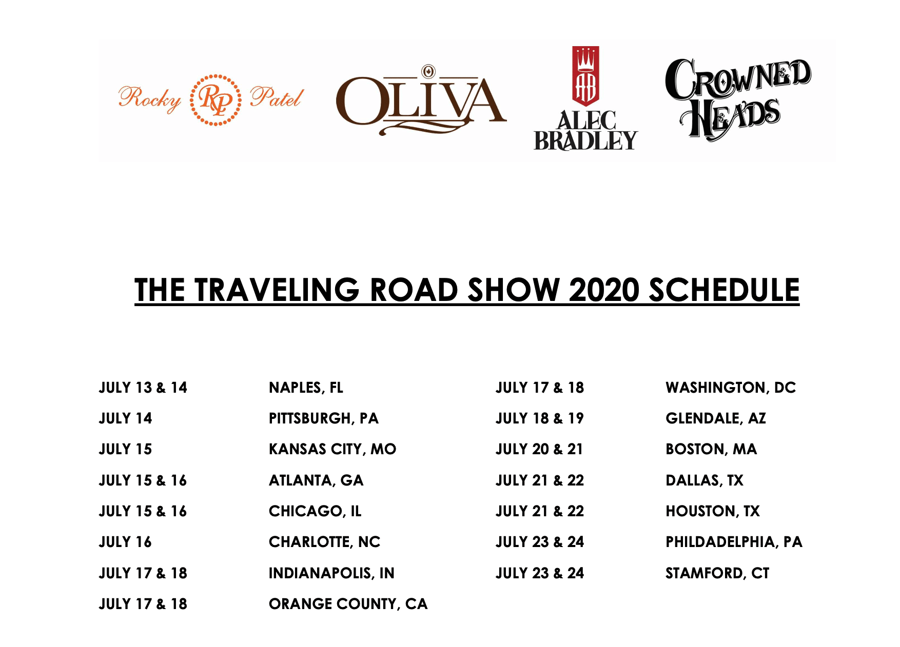 Cigar Traveling Road Show 2020